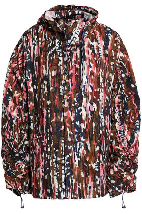 MARNI Printed cotton hooded jacket