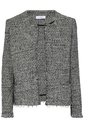IRO Vivien ring-embellished cotton-blend tweed jacket