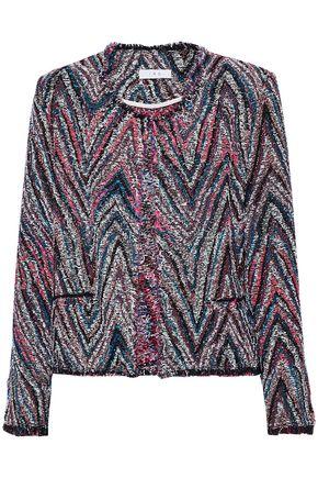 IRO Frayed cotton-blend jacquard-tweed jacket