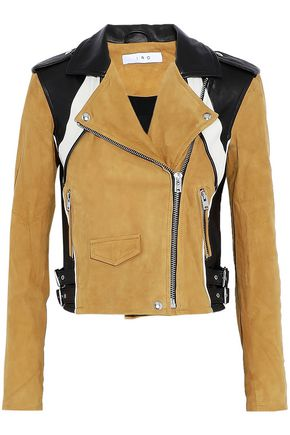 IRO Leather and suede biker jacket ...