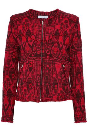 IRO Frayed bouclé-tweed jacquard jacket