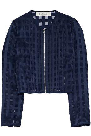 DIANE VON FURSTENBERG Pintucked fil coupé chiffon jacket