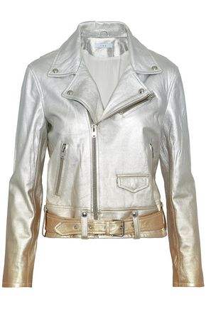 IRO Calum metallic dégradé leather biker jacket