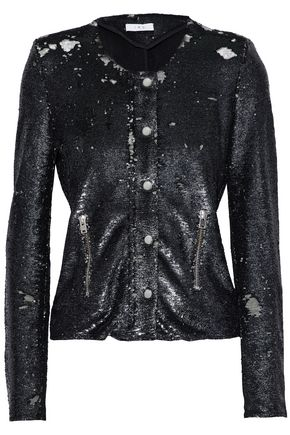 IRO Sequined tulle jacket