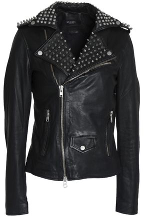 MUUBAA Studded leather biker jacket