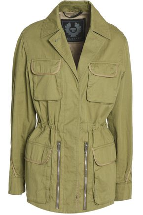 BELSTAFF Gathered cotton-twill jacket