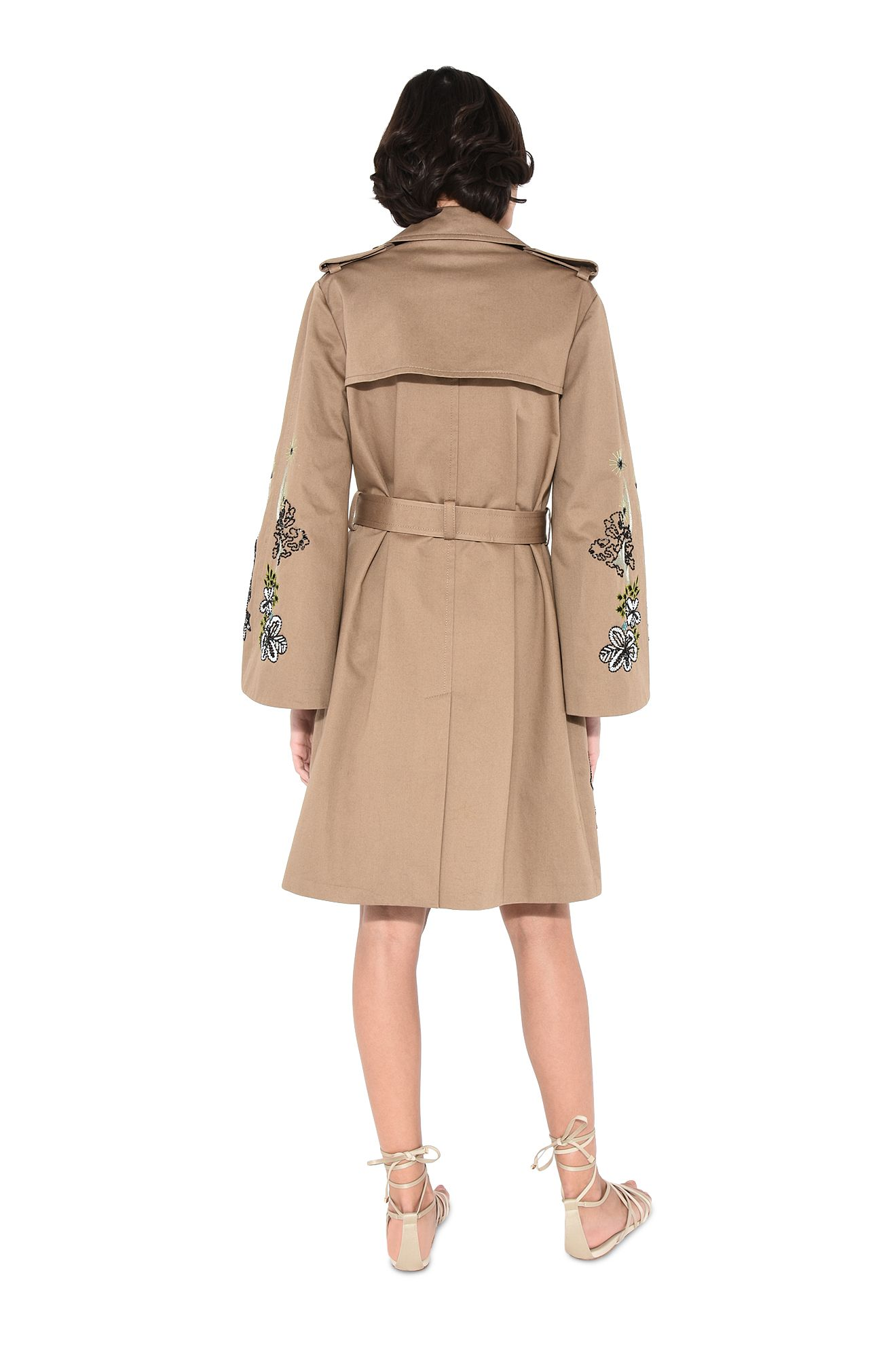 ALBERTA FERRETTI Long coat Woman Maxi trench in nylon r