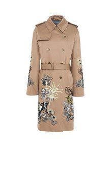 ALBERTA FERRETTI Embroidered trench Long coat Woman d