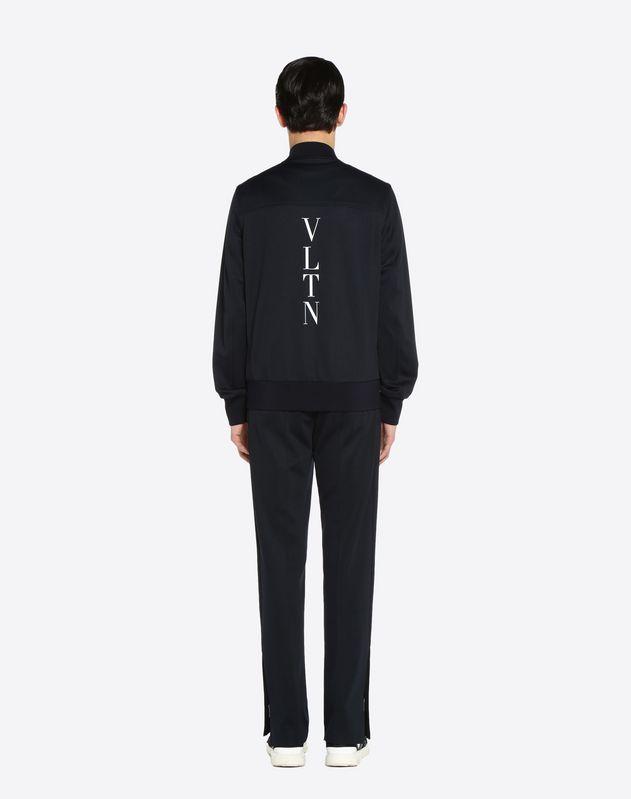 Sweat-shirt avec intarsia de bandes verticales et logo VLTN