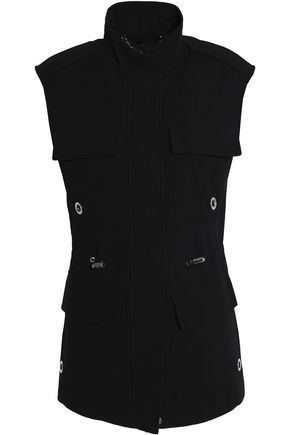 BELSTAFF Eyelet-embellished cotton-blend twill vest