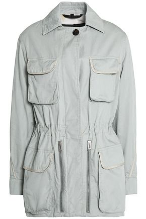 BELSTAFF Gathered cotton-twill jacket