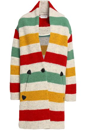 ISABEL MARANT ÉTOILE Striped wool-blend felt coat