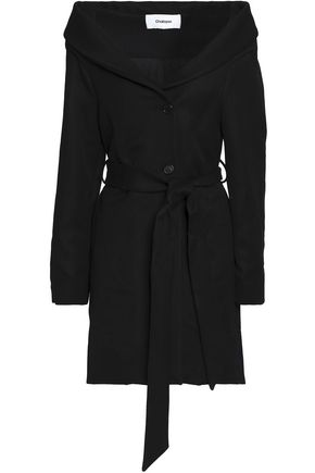 CHALAYAN Belted twill coat