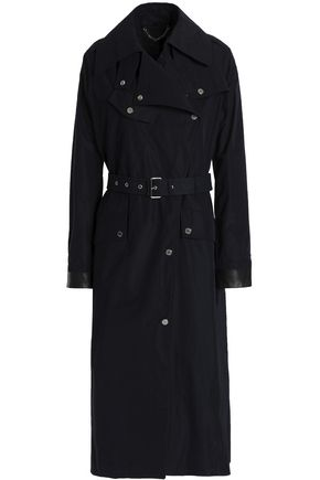 BELSTAFF Leather-trimmed shell trench coat