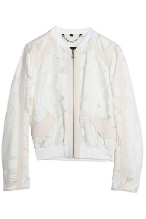 BELSTAFF Fil coupé cotton and silk-blend jacket