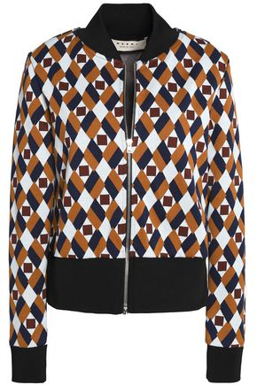 MARNI Cotton-blend jacquard bomber jacket
