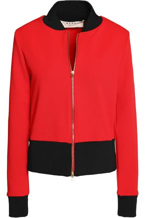 MARNI Two-tone stretch-jersey bomber jacket
