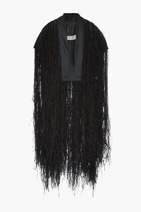 RICK OWENS Silk-organza and feather vest