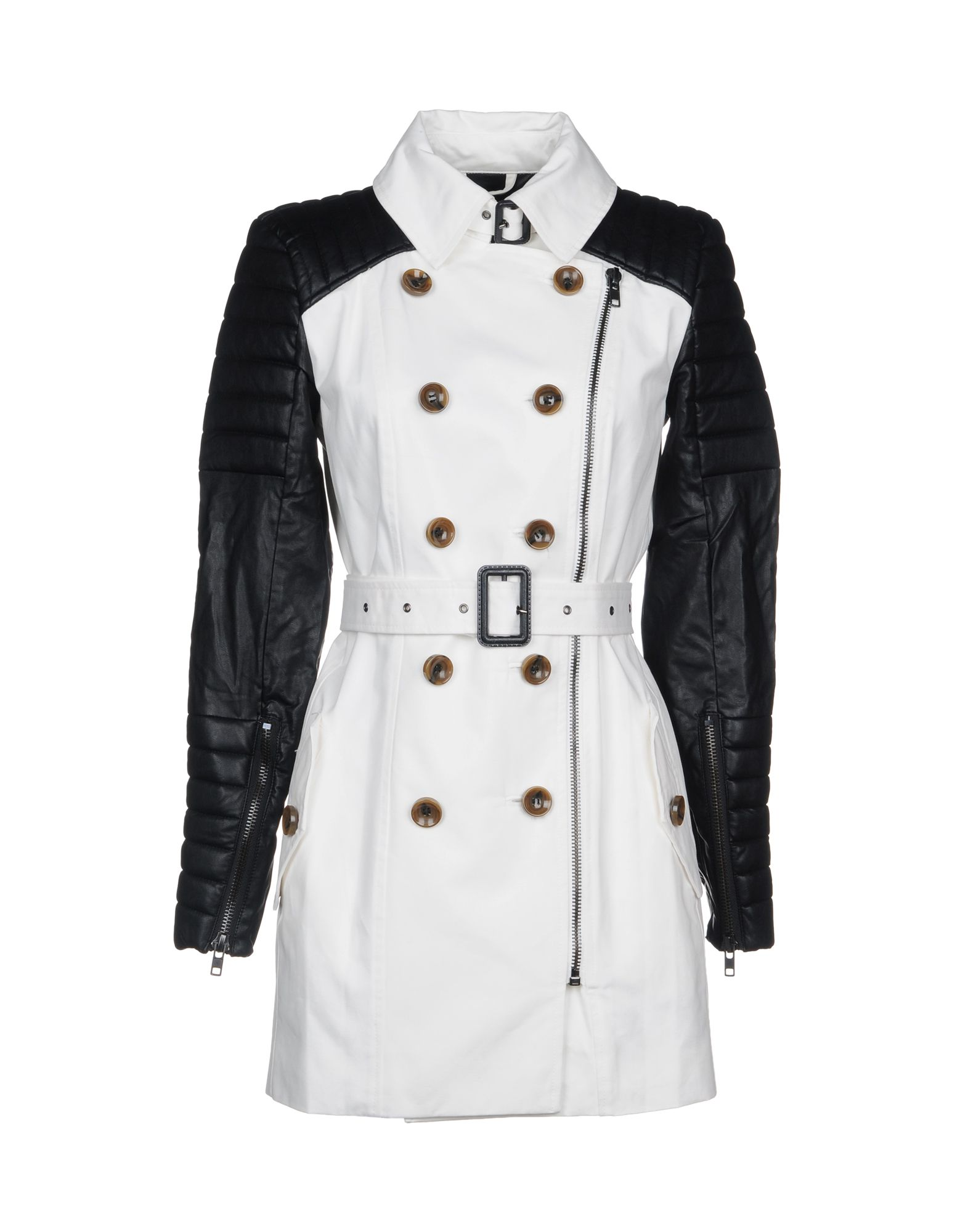 W118 BY WALTER BAKER Double Breasted Pea Coat in White