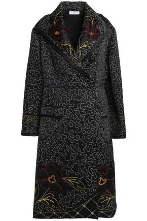 J.W.ANDERSON Embroidered silk-satin jacket