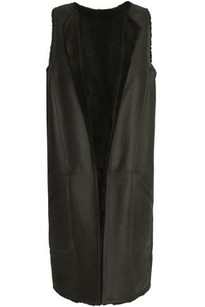 AMANDA WAKELEY Reversible shearling vest