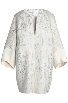 AMANDA WAKELEY Metallic jacquard coat