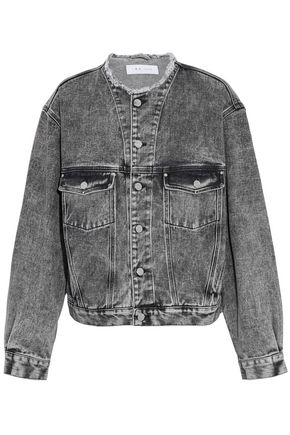 IRO Frayed faded denim jacket