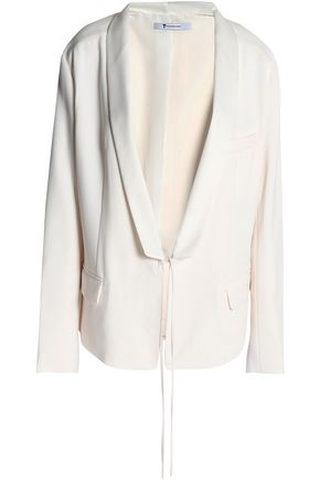 T by ALEXANDER WANG Tie-front twill blazer