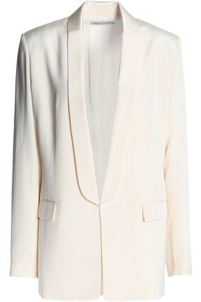 T by ALEXANDER WANG Satin-trimmed silk blazer
