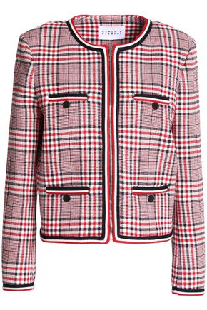 CLAUDIE PIERLOT Vanina checked cotton-blend jacket