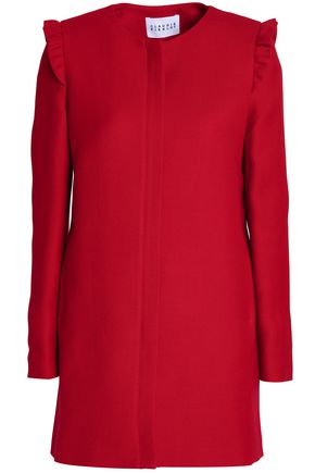 CLAUDIE PIERLOT Ruffle-trimmed twill coat