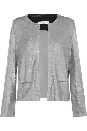 IRO Frayed sequined jersey jacket