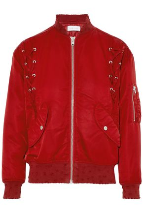 IRO Lace-up shell bomber jacket