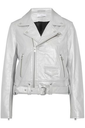 IRO Iridescent leather biker jacket