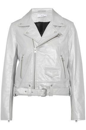 IRO Iridescent leather biker jacket