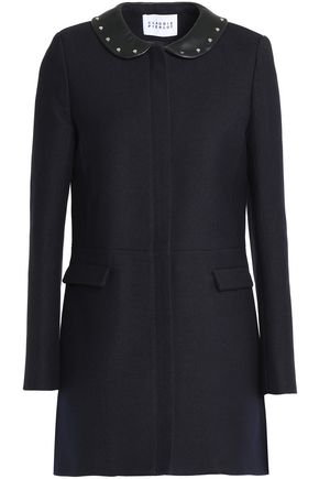 CLAUDIE PIERLOT Studded twill coat