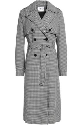CLAUDIE PIERLOT Houndstooth cotton trench coat