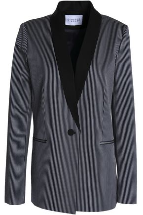 CLAUDIE PIERLOT Pinstriped twill blazer