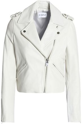 CLAUDIE PIERLOT Crush leather biker jacket