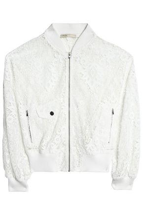MAJE Guipure lace bomber jacket