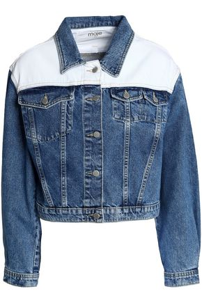 MAJE Faded denim jacket