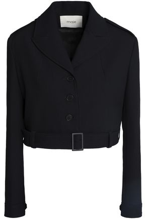 MAJE Cropped twill jacket