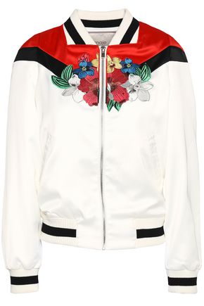 MAJE Embroidered stain bomber jacket