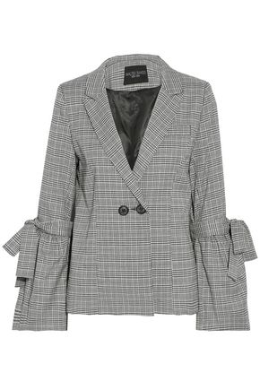W118 by WALTER BAKER Bow-detailed checked woven blazer