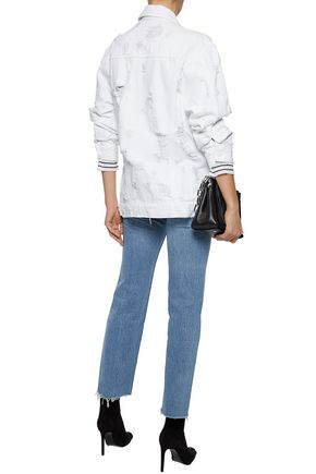 ALEXANDER WANG Oversized distressed denim jacket
