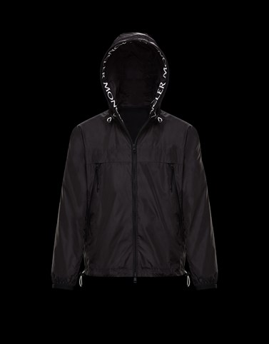 MASSEREAU Black Windbreakers Man