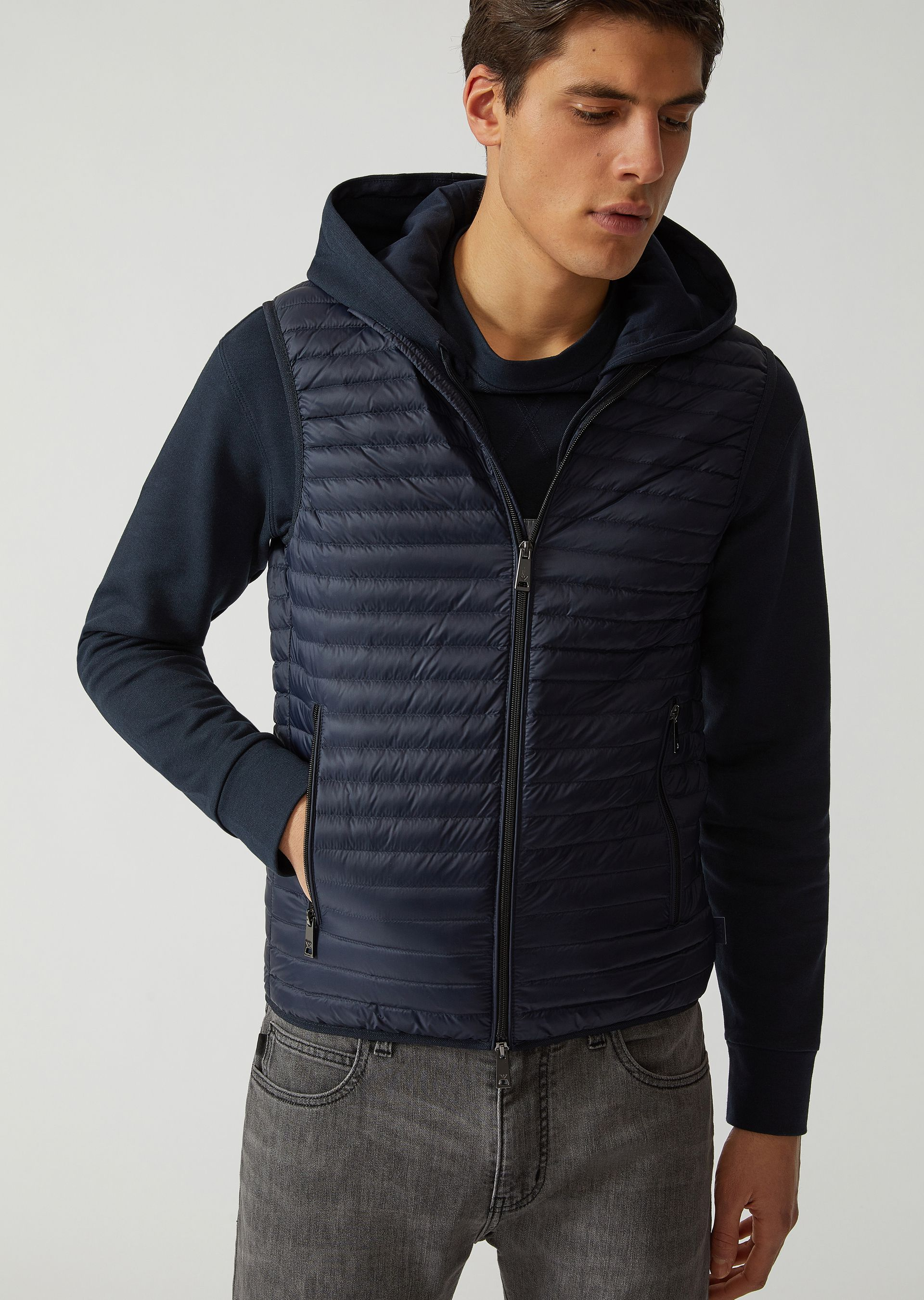 Emporio Armani  DOWN VESTS - ITEM 41782969