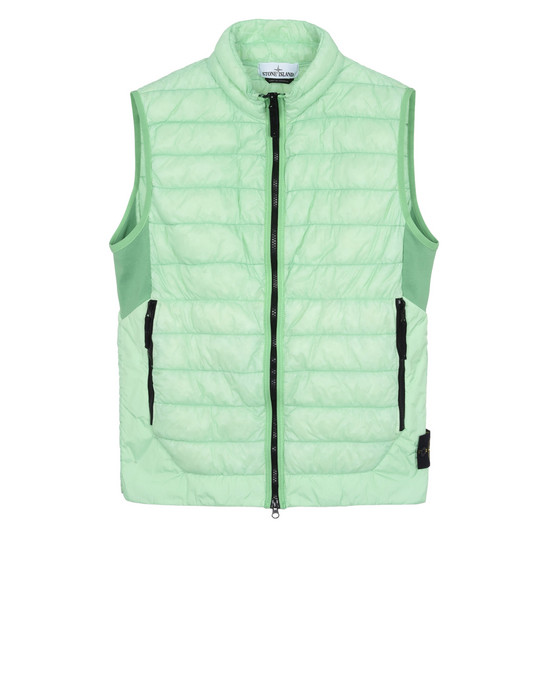 STONE ISLAND Gilet G0124 GARMENT DYED MICRO YARN DOWN_PACKABLE