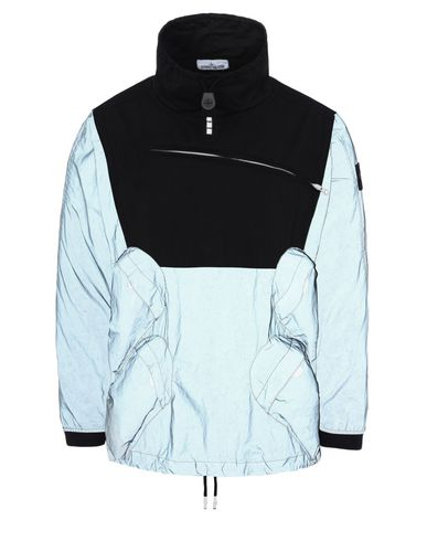 STONE ISLAND LIGHTWEIGHT JACKET 44999 GARMENT DYED PLATED REFLECTIVE WITH NY JERSEY-R