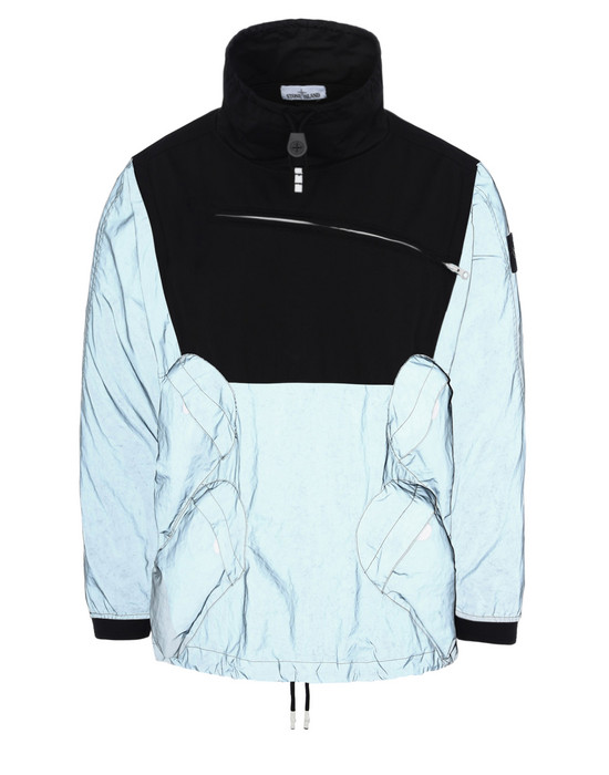 STONE ISLAND ライトウェイトジャケット 44999 GARMENT DYED PLATED REFLECTIVE WITH NY JERSEY-R